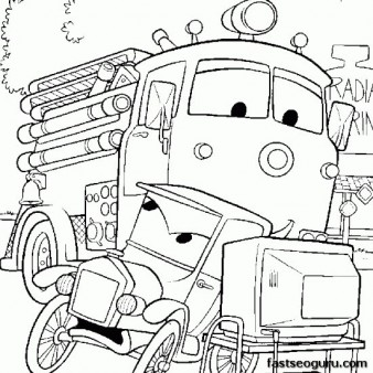 Disney Characters pictures to print car 2 luigi and guido