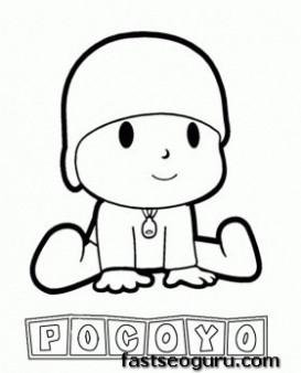 Main characters cartoon pocoyo coloring pages
