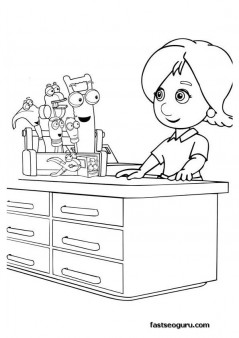 printable coloring  page handy manny