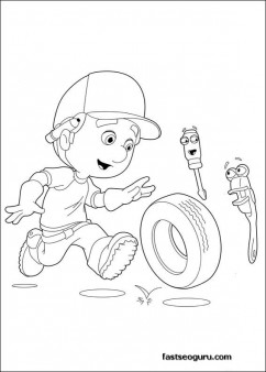 Printable Handy Manny Felipe and Rusty Coloring Pages