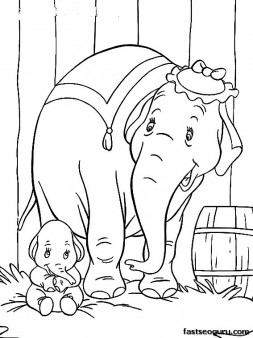 Print out Disney Characters Dumbo with Elephant Matriarch