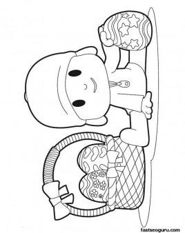 Printable coloring pages cartoonPocoyo and his easter egg