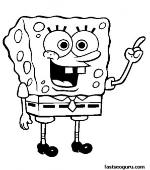Printable coloring pages for kids Spongebob