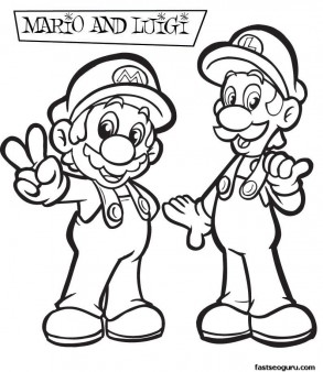 Printable Coloring pages Mario and Luigi