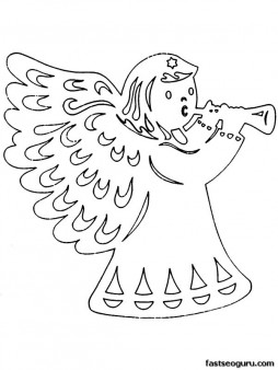 Free Christmas cut outs Printable Coloring pages