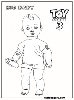 Big baby toy story 3 Printable Coloring Pages