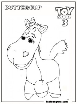 buttercup toy story 3 coloring page for kids