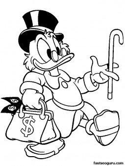 Printable  Disney McDuck coloring pages