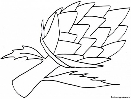 Vegetable Artichoke Print out Coloring Pages for kid