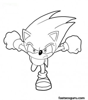 Printable Sonic The Hedgehog Coloring Page