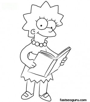 Print out Lisa Simpson Coloring Page