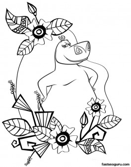Madagascar 4 Gloria coloring pages