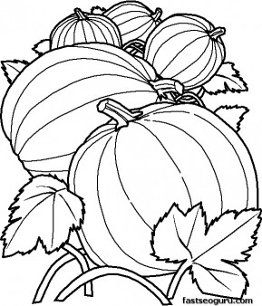 Printable Vegetables Pumpkins coloring pages
