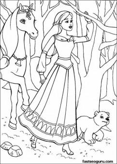 Printable Disney Princess Coloring page for girls