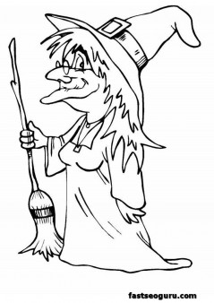Free Halloween hakser coloring page
