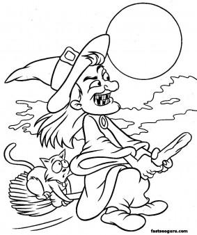 Printable Halloween hakser coloring page