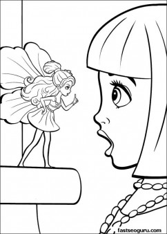 Printable barbie thumbelina Janessa and Makena coloring pages