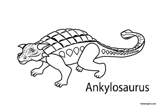 Printable dinosaur ankylosaurus coloring pages