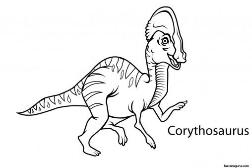 Printable dinosaur corythosaurus coloring pages