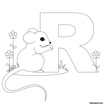 Printable Animal Alphabet worksheets Letter R is for Rat