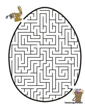 Printable Easter Bunny Egg Maze