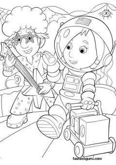 Print out coloring handy manny