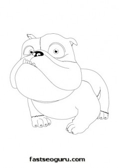 Printable Disney characters Luiz Rio Coloring Pages