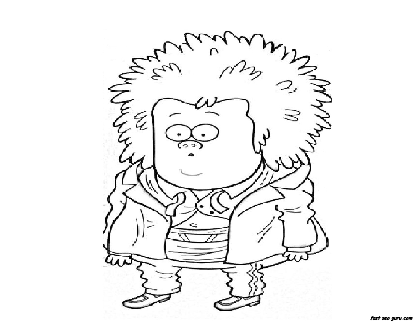 Printable Regular Show Mucle man coloring pages ...