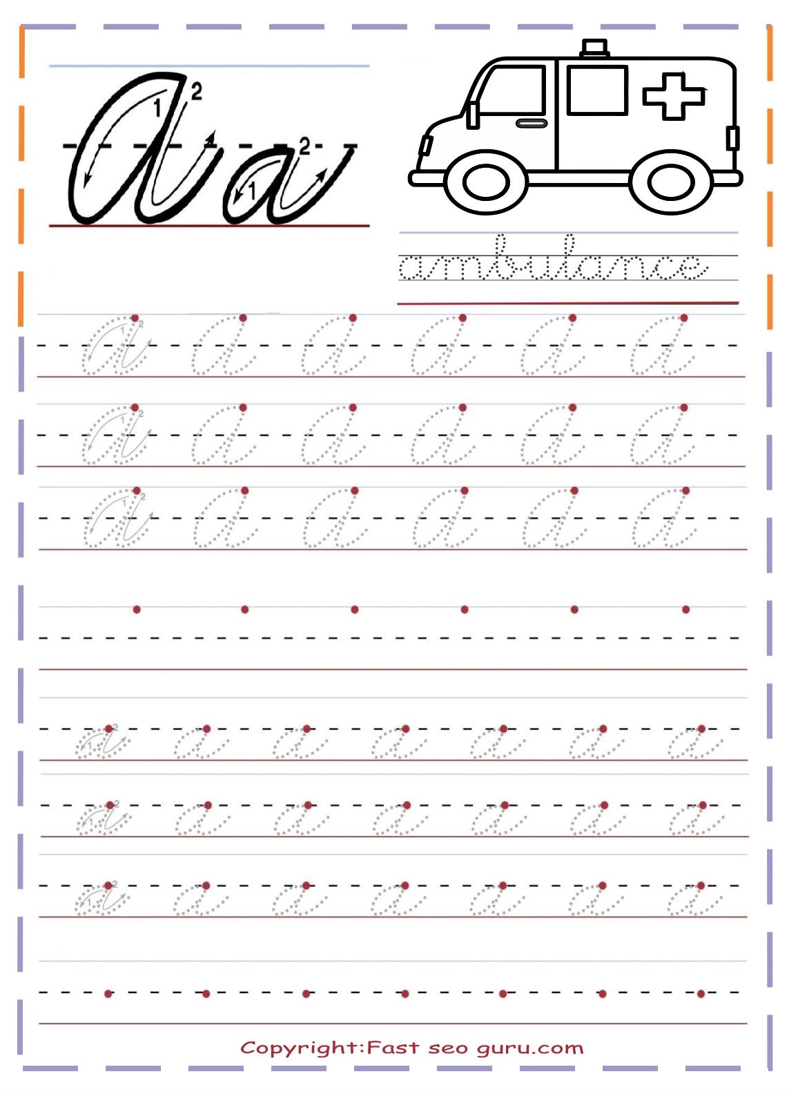 Good Cursive Handwriting Alphabet Lower