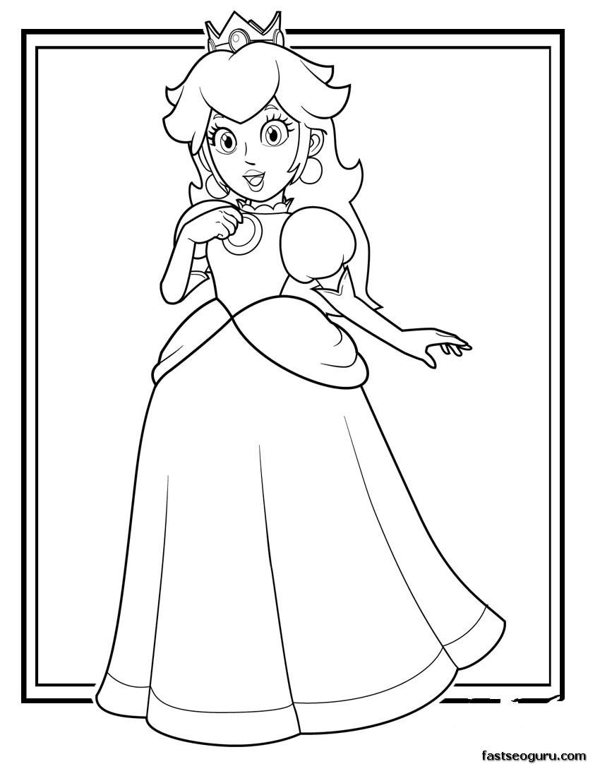 Printable super mario Princess Toadstool coloring pages ...