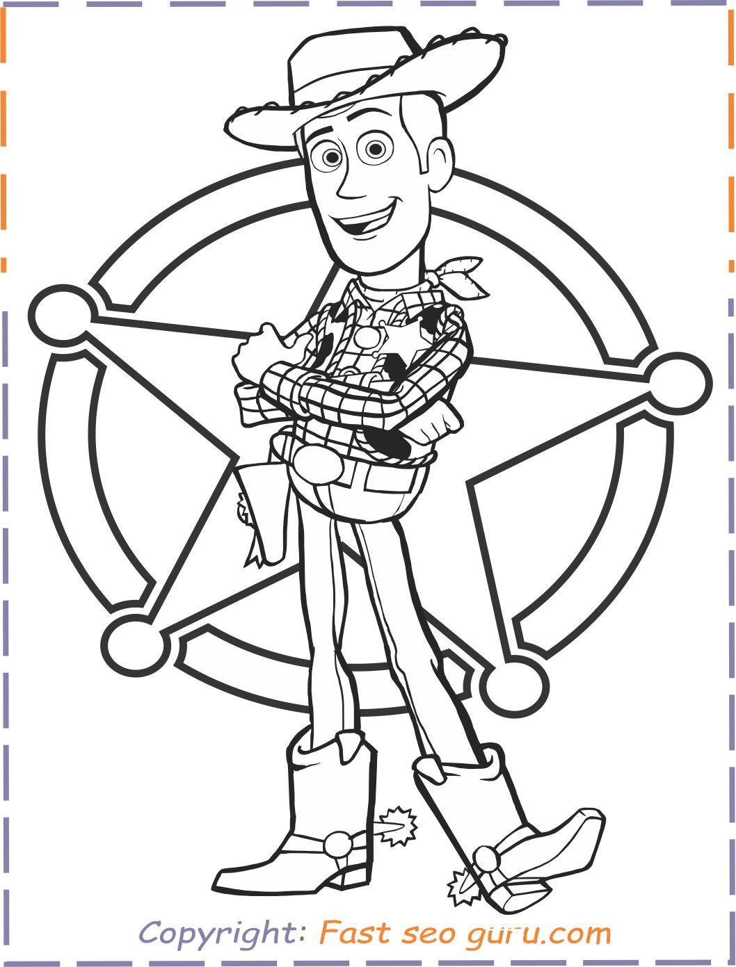 Toy Story 4 Woody Coloring Pages