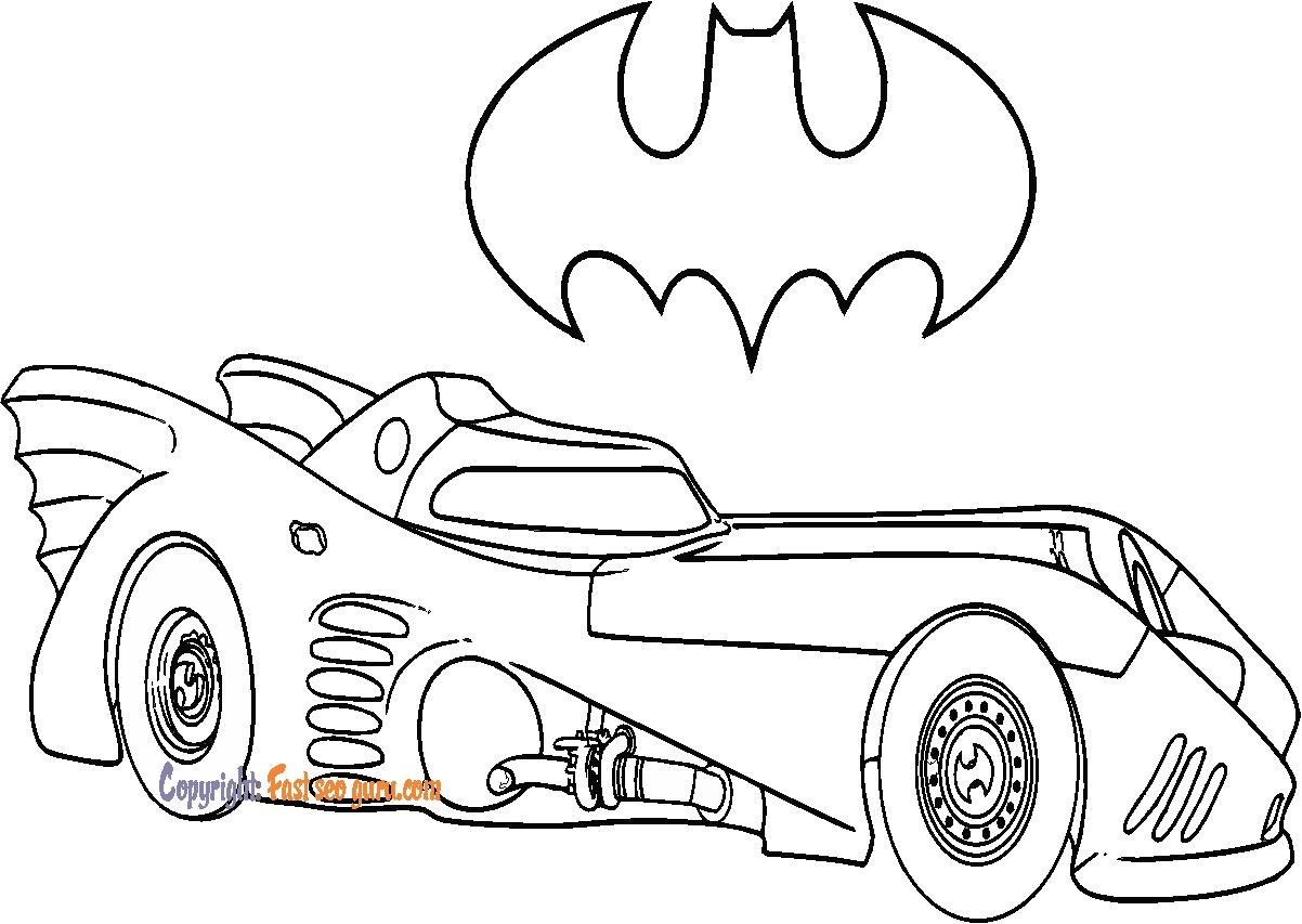 batman car coloring pages to print