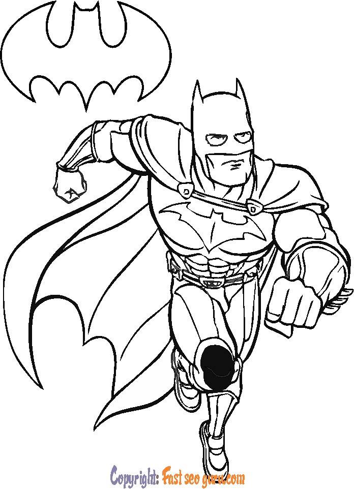 batman easy cartoon drawings coloring pages