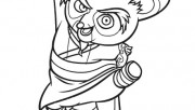 Printable Kung Fu Panda Master Shifu coloring pages