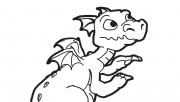 Printable The Dragon coloring pages for boy
