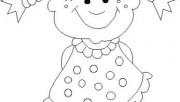 Print out girl doll smile…