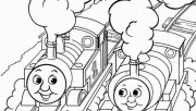 Printable CartoonThomas and friends coloring pages