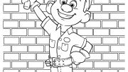 Printable wreck it ralph Felix with his magic hammer coloring pages