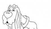 Printable Animals lazy dog coloring pages