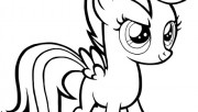 Printable My Little Pony Friendship Is Magic Scootaloo coloring pages