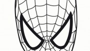 Printable Superheroes spiderman maske coloring pages