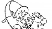Toy story 3 Jessie and Bullseye print coloring pages