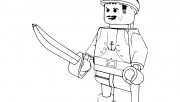 Printable pirate lego coloring in sheets for boy