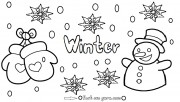 Printable Winter Snowman …