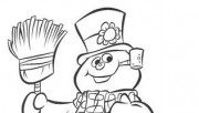 snowman colouring picture printable for kids