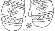 Print out winter mittens …