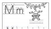 Printable letter M tracin…