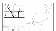 Printable letter N tracin…