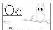 Printable letter O tracing worksheets for preschool