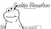 Printable Cookie Monster the Sesame Street coloring pages